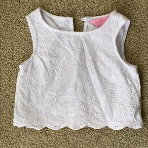 Girls white Lilly Crop